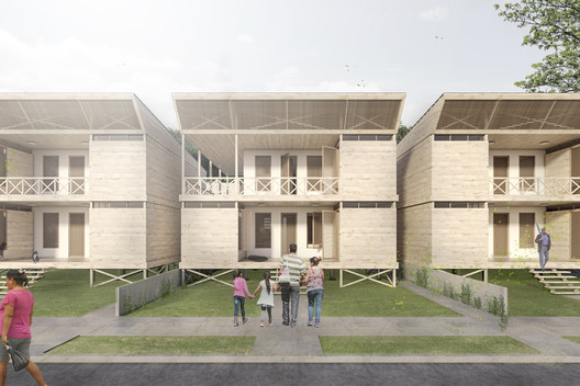 9_MODULO_2PISOS_4 Architects Propose 120 Incremental Social Houses for Iquitos, Peru Architecture