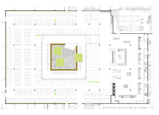 490_L_K_5_A_Grundriss_Kantine_ohne_Belaege Canteen for Rohde & Schwarz / landau+kindelbacher Architekten Innenarchitekten Architecture