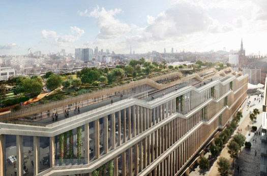 Google's new King's Cross campus, designed by BIG and Heatherwick Studios. Image Courtesy of Google
