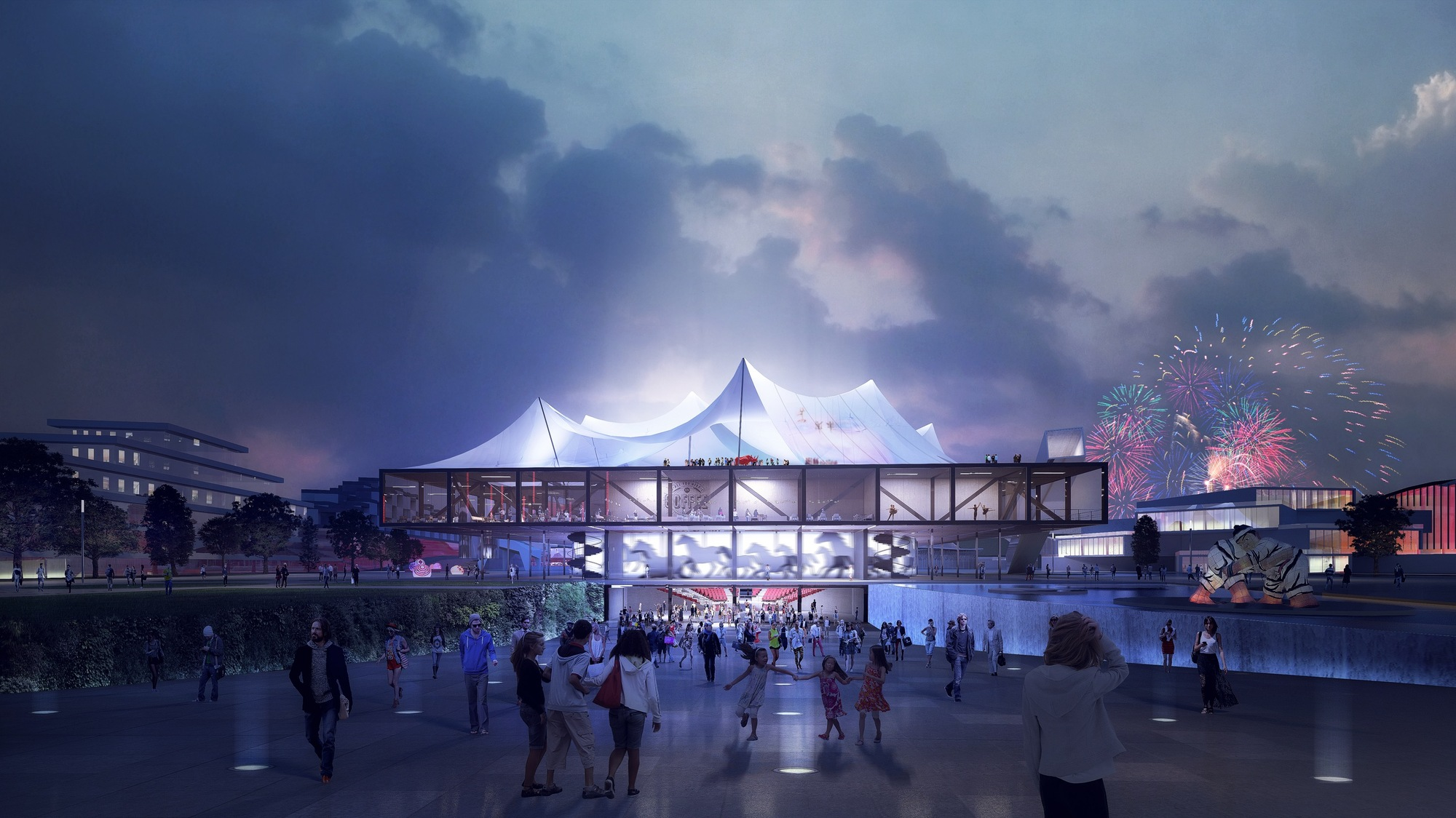 Clement Blanchet Draws Inspiration Circus Tents