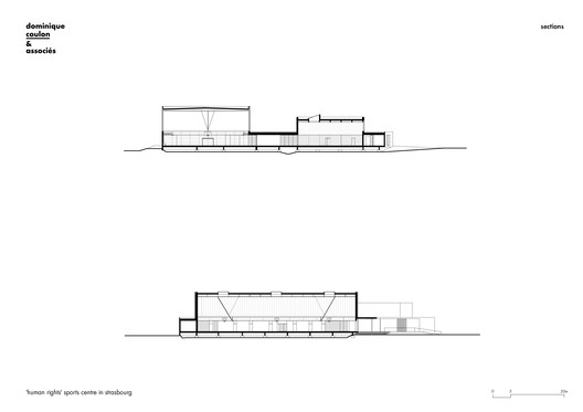 04_sections 'Human Rights' Sports Center in Strasbourg / Dominique Coulon & associés Architecture