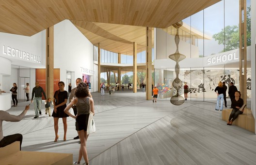 Looking South in the New Center. Image Courtesy of Studio Gang