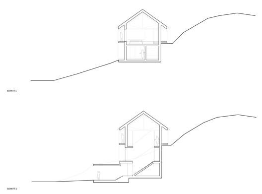 IMA_HOELLER_Schnitte_200 Höller House / Innauer-Matt Architekten Architecture