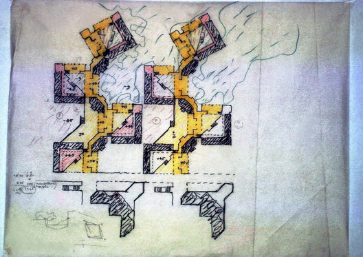Sketch of Indian Institute of Management, Bangalore. Image Courtesy of Pritzker Architecture Prize