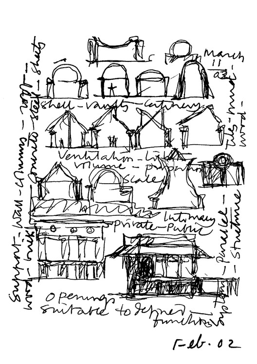 Sketch of CEPT. Image Courtesy of Pritzker Architecture Prize