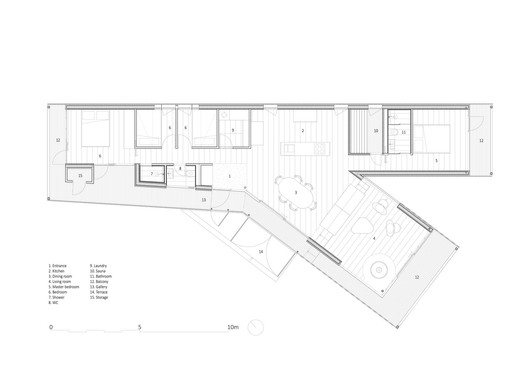 804_Kvitfjell-S_PLAN_MAIN_CABIN_BLACK Smart Configurations for Small Kitchens Architecture