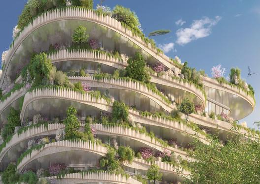 23_-_ARBORICOLE_-_BALCONIES_IN_TUFFEAU_STONE Vincent Callebaut Architectures Wins Public Vote for Millennial Vertical Forest Competition Architecture