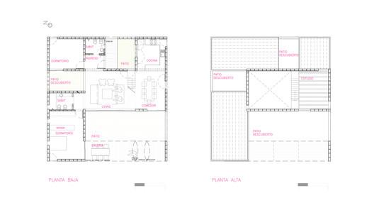 PLANTAS PRO.CRE.AR PERROUD House / AToT - Arquitectos Todo Terreno Architecture