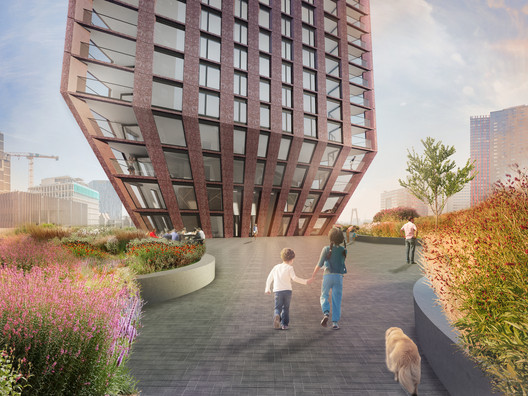 BarcodeArchitects_CasaNova_roofterrace Barcode Architects Brings New Triangular Residential Tower to Rotterdam's Skyline Architecture