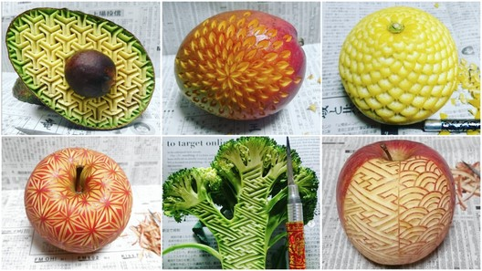 """Fruit2 This """"Human Laser Cutter"""" Precisely Models Fruits With Amazing Geometric Designs Architecture"""