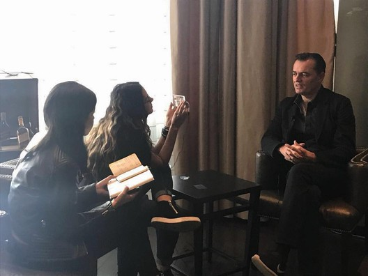 "Monica interviewing <a href=""https://www.archdaily.com/tag/patrik-schumacher"">Patrick Schumacher</a> of <a href=""https://www.archdaily.com/office/zaha-hadid-architects"">Zaha Hadid Architects</a>. Image Courtesy of Monica Arellano"
