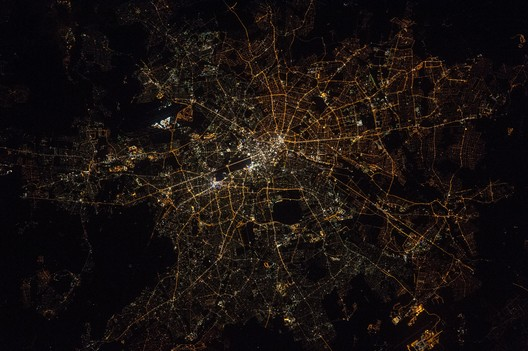 Berlin at night, 2016. Earth Science and Remote Sensing Unit, NASA Johnson Space Center