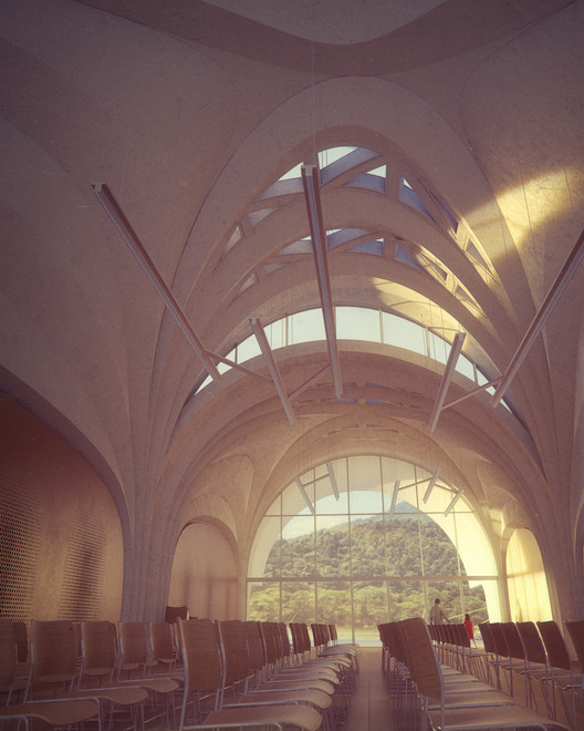 04_ZHA_Lushan_Main_Hall_courtesy_of_ZHA Zaha Hadid Architects Designs Parabolic-Vaulted School Campus in Rural China Architecture
