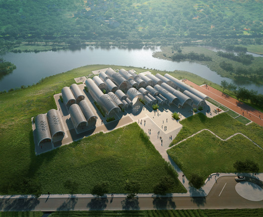 11_ZHA_Lushan_render_by_VA Zaha Hadid Architects Designs Parabolic-Vaulted School Campus in Rural China Architecture