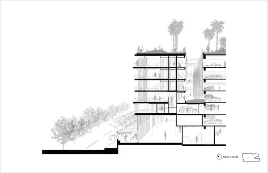 Section Anaha / Solomon Cordwell Buenz Architecture