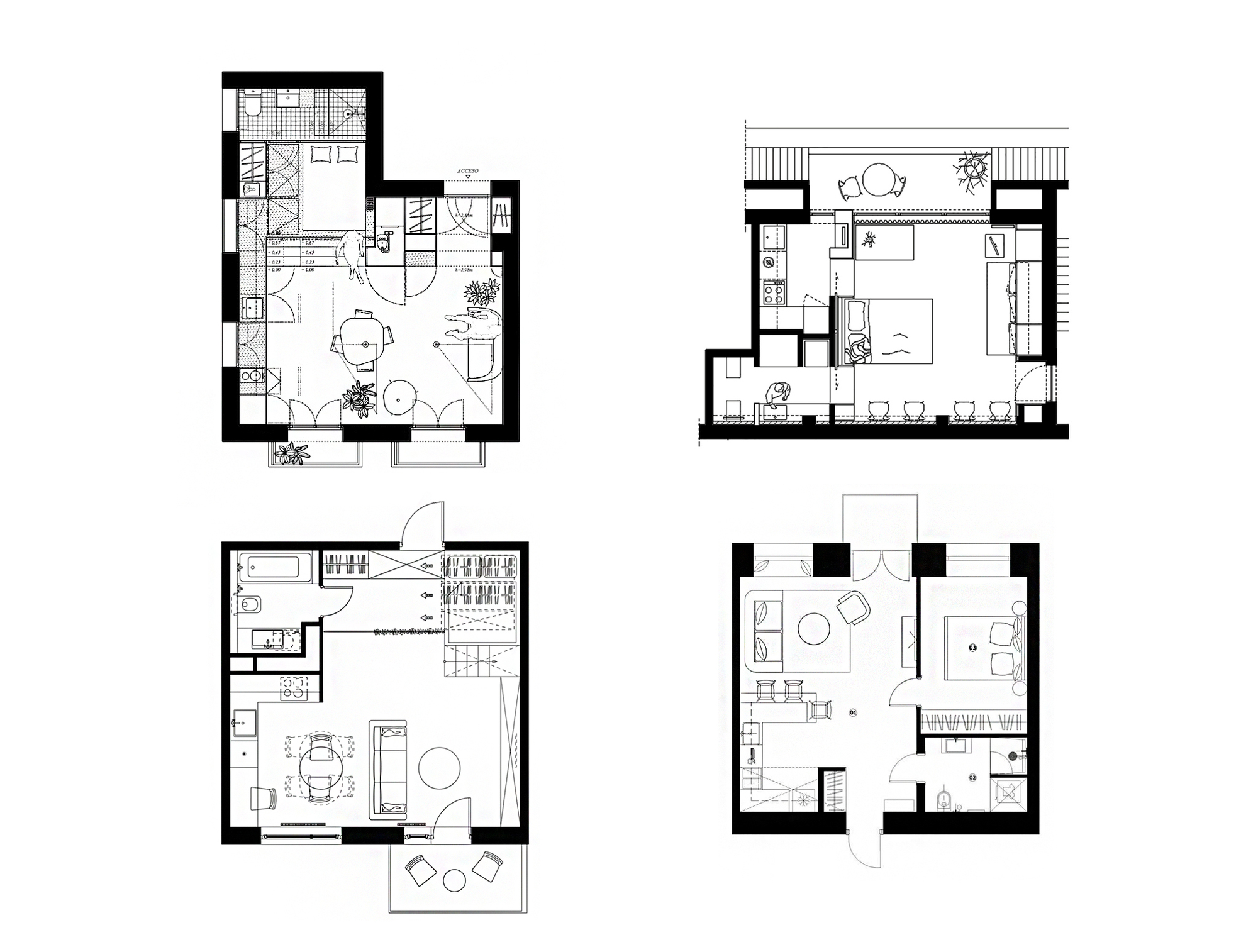 house plans under 50 square meters 26 more helpful examples of small scale living [ 2000 x 1514 Pixel ]