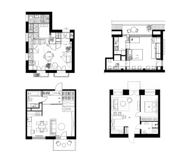 House Plans Under  Square Meters  More Helpful Examples Of Small Scale Living