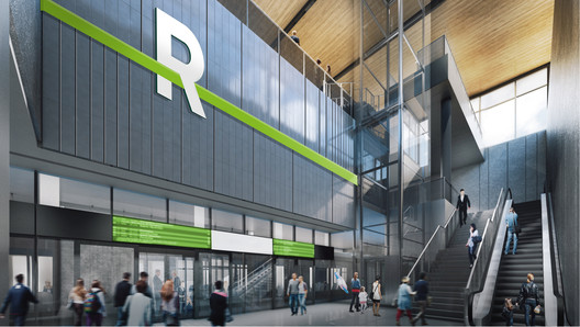 REM_interieur-station Lemay, Perkins+Will, and Bisson Fortin to Design Montreal Light Rail System Architecture
