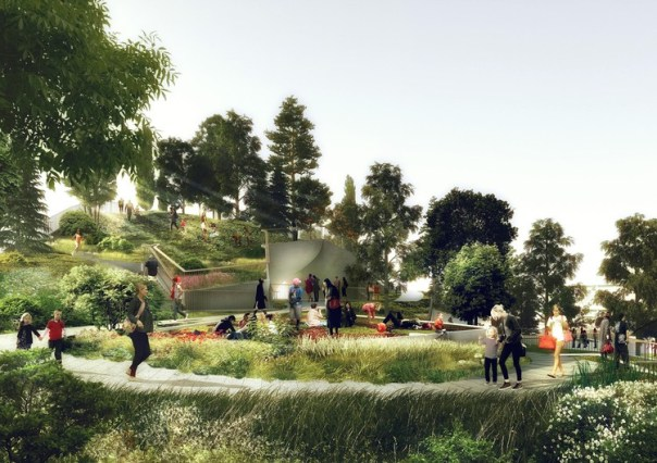 © Pier55, Inc. and Heatherwick Studio, Renders © Luxigon