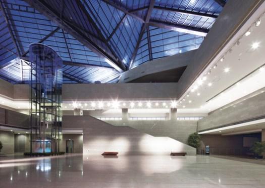 Illuminated central hall. Image © CCTN Design