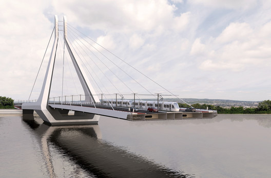 05__VA-render_3D_section UN Studio Triumphs in Competition for New Budapest Bridge Over the River Danube Architecture