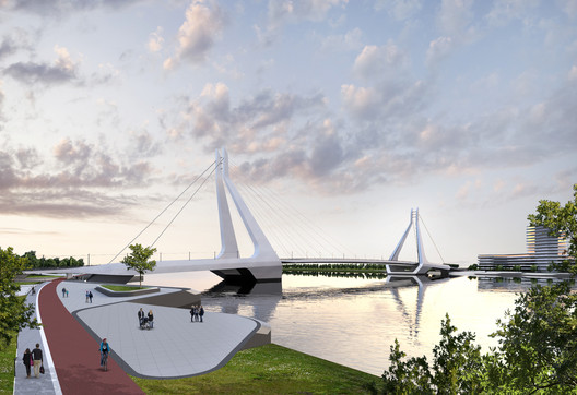 04 UN Studio Triumphs in Competition for New Budapest Bridge Over the River Danube Architecture