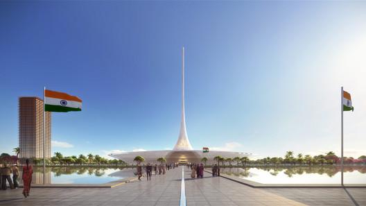 Amaravati Government Complex. Image Courtesy of Foster + Partners