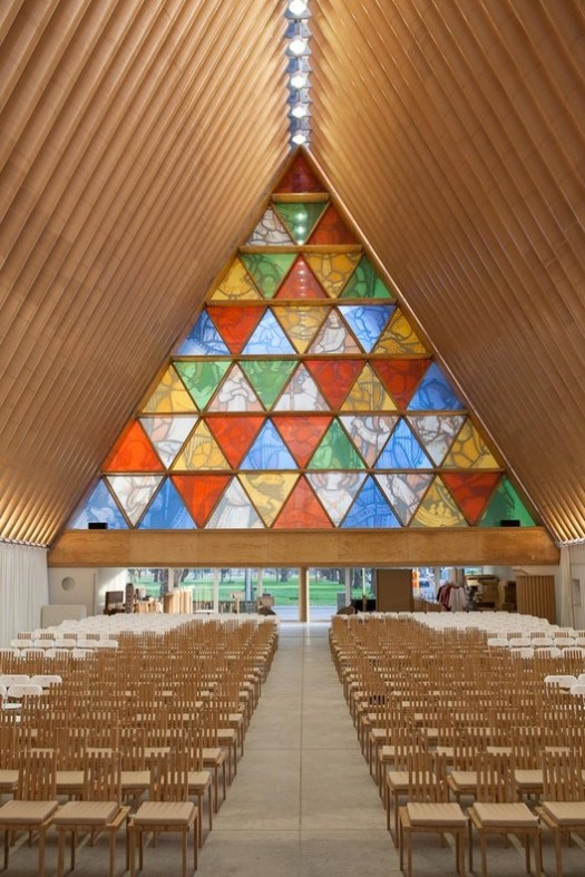 Cardboard Cathedral. Image © Bridgit Anderson