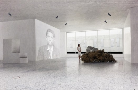 Inside the Exhibition Space. Image Courtesy of Transborder Studio