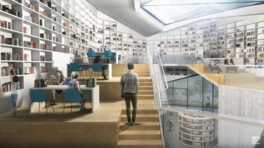 Library Visualization. Image Courtesy of Stefano Boeri Architetti