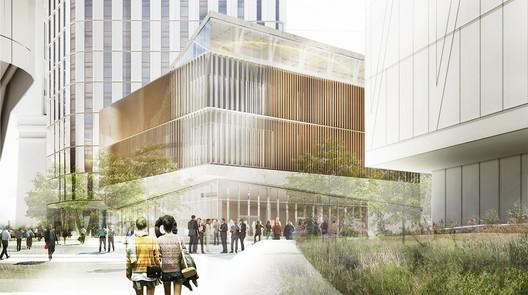 Verizon Executive Education Center and Graduate Hotel / Snøhetta and James Corner Field Operations. Image via New York City Public Design Commission