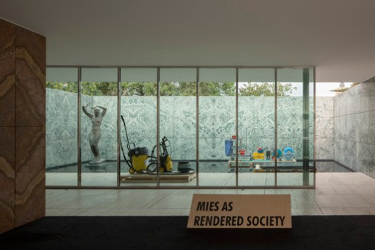 "PHANTOM. Mies as Rendered Society / Andrés Jaque—Office for Political Innovation. Image © ""Transmaterial Politics"" exhibition at Tabacalera Madrid"