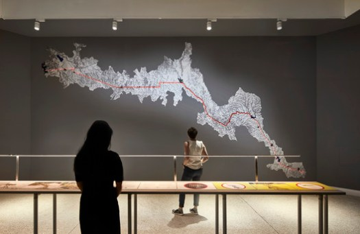 MEXUS: A Geography of Interdependence by Estudio Teddy Cruz + Fonna Forman at the 2018 U.S. Pavilion. Courtesy of the School of the Art Institute of Chicago and the University of Chicago.. Image © Tom Harris