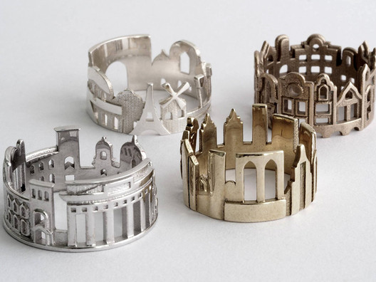 rings-5 Wearable Architecture: 11 Architecture-Inspired Jewelry Lines Architecture