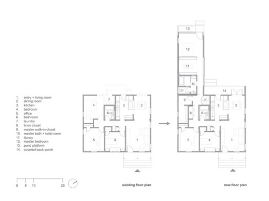 Existing floor plan - New floor plan