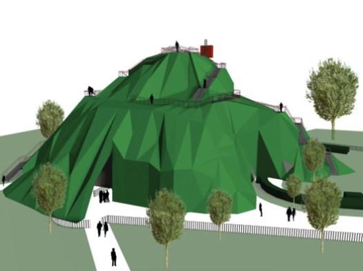 Serpentine Pavilion 2004 (unbuilt). Image Courtesy of MVRDV