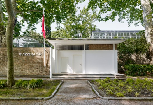 "Installation view of ""Svizzera 240: House Tour"" at the Swiss Pavilion at the 16th International Architecture Exhibition - La Biennale di Venezia. Image © Wilson Wootton"