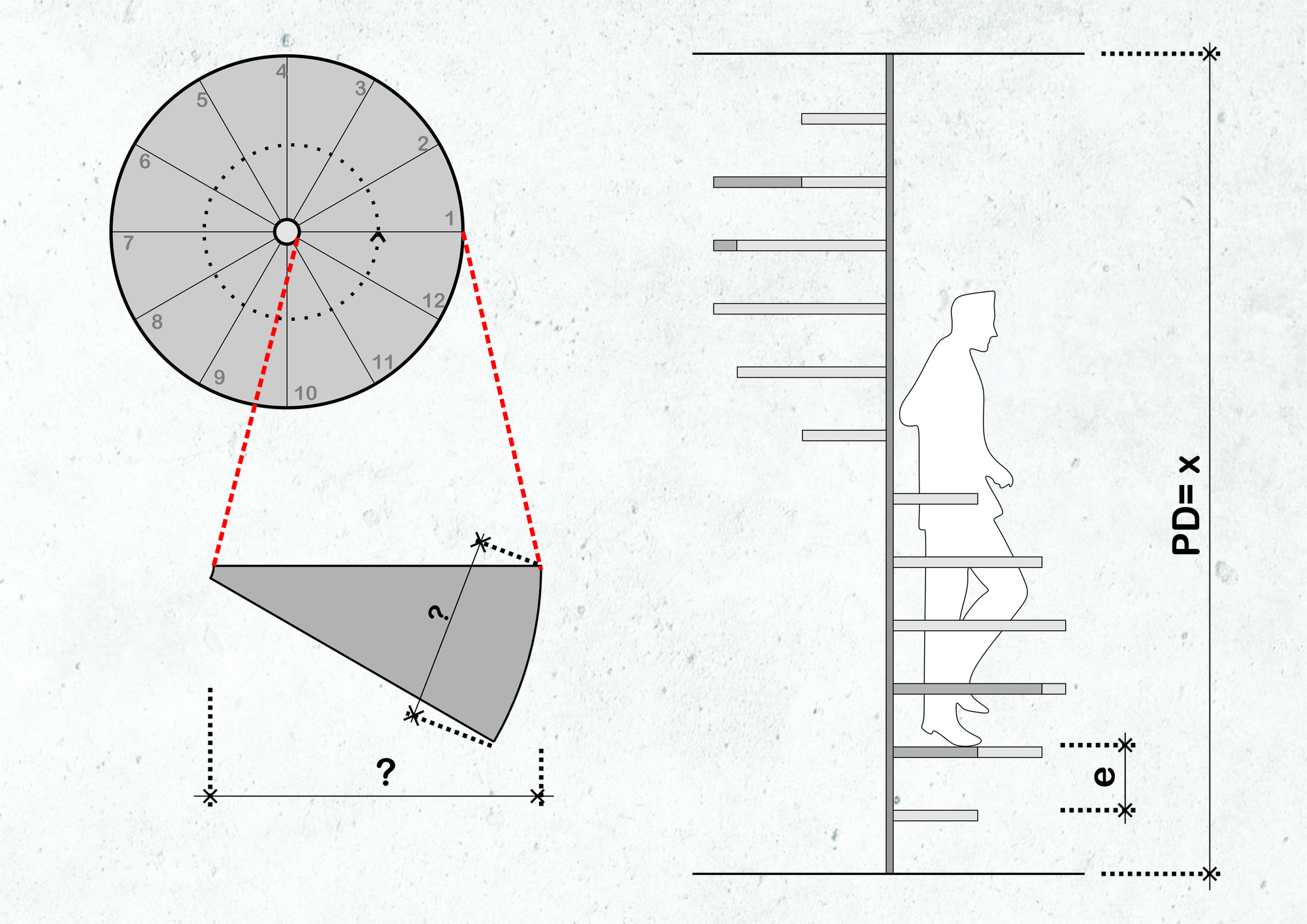 how to calculate spiral staircase dimensions and designs [ 2000 x 1414 Pixel ]