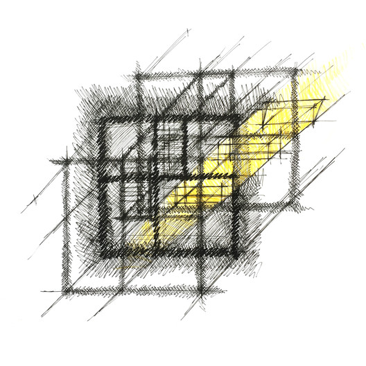 0-sketch_cut The House with a Tiny Patio / Atelier TAO+C Architecture