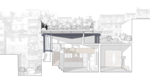 section The Garden Roof Parasol / Harsh Vardhan Jain Architect Architecture