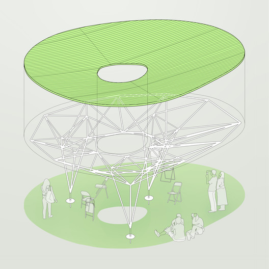 AXON_GREEN Sombra Verde's 3D Printed Bamboo Structure Bridges the Gap Between Tradition and Technology Architecture