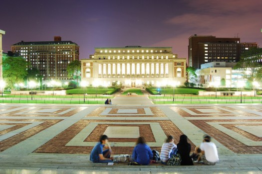 Columbia University campus. Image © <a href='https://www.flickr.com/photos/beraldoleal/4857977087'>Flickr user Beraldo Leal</a> licensed under <a href='https://creativecommons.org/licenses/by/2.0/'>CC BY 2.0</a>