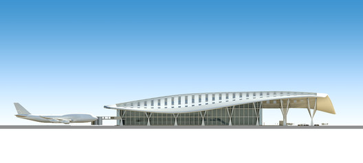 West_elevation Kempegowda International Airport / HOK Architecture