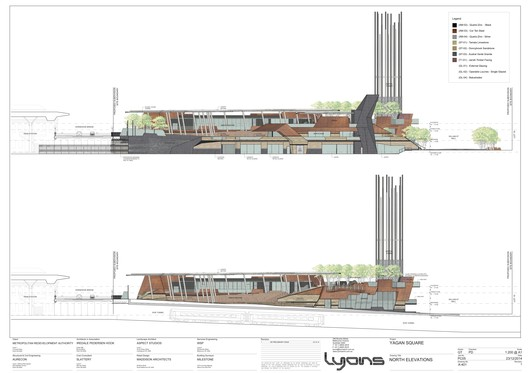 A-401_NORTH_ELEVATIONS_1-200_rotated Yagan Square / Lyons Architects + iredale pedersen hook architects + ASPECT Studios Architecture
