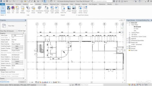 via Revit: Advanced Techniques for Importing CAD Drawings / Lynda.com