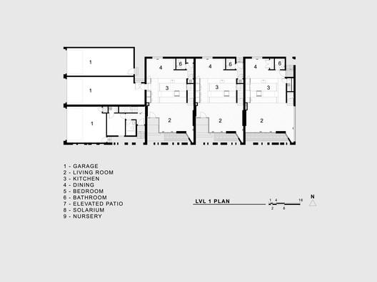 lvl_1_plan Jason Street Multifamily / Meridian 105 Architecture Architecture