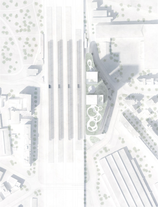 FALSIT02 C.F. Møller's Green-Centric Proposal Wins Competition for New Train Station in Hamburg Architecture