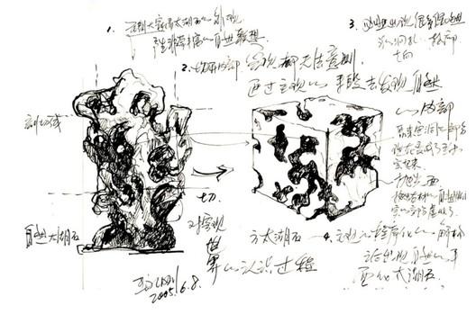 Originating from Taihu Stone Cutting, 2005. Image Courtesy of Idea Latitude Public Art Institute