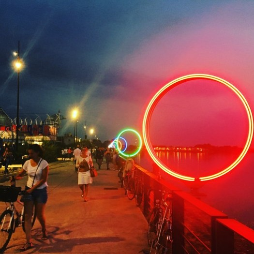 The Rings by Patrick Puchain and Daniel Buren. Image © Niall Patrick Walsh
