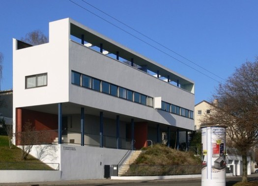Weissenhof-Siedlung House, Stuttgart, designed by Le Corbusier. © Andreas Praefcke, via Wikimedia. License CC BY 3.0